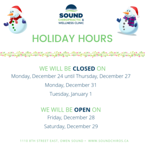 holiday, chiropractic clinics open, open hours, holiday hours