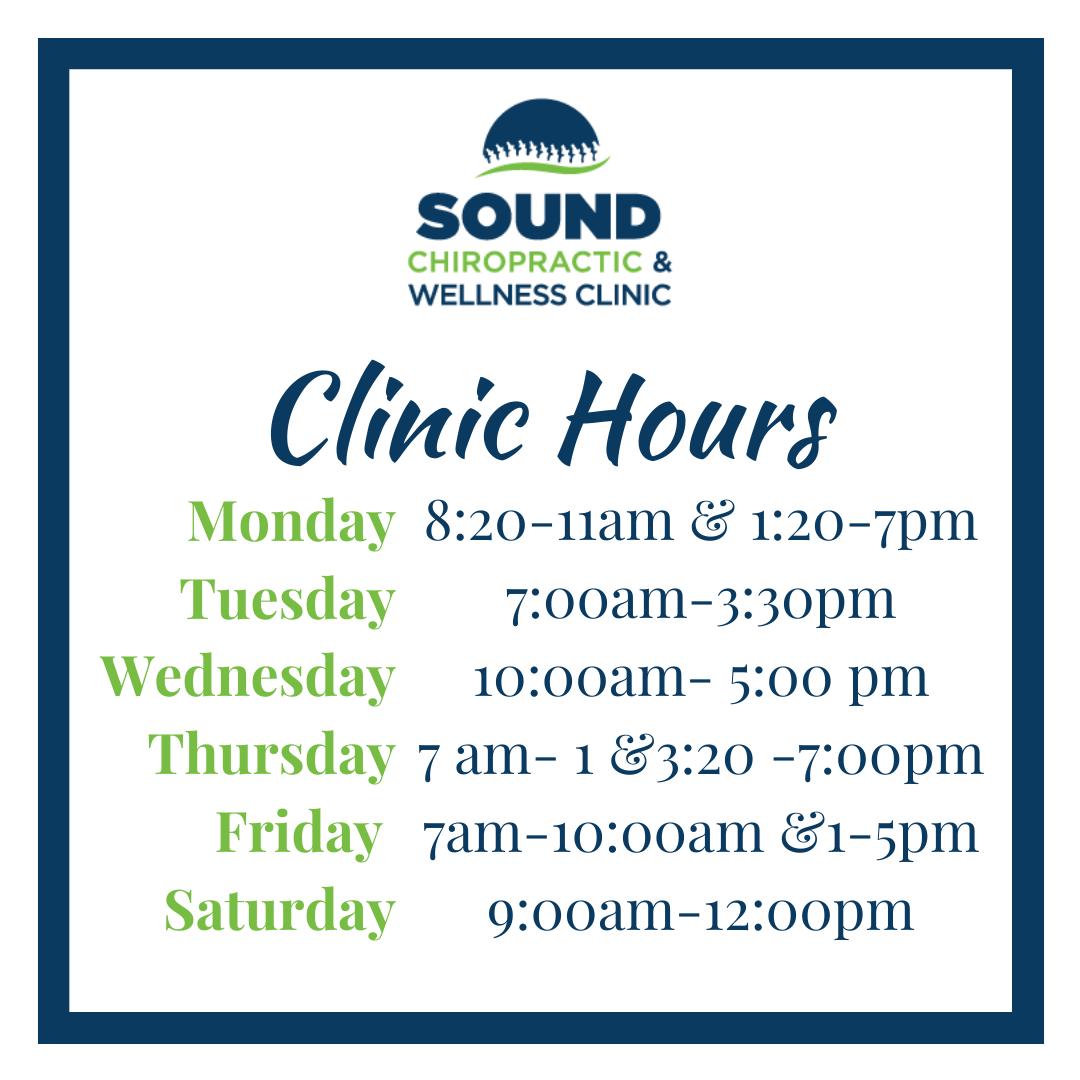 Temporary clinic hours beginning June 22, 2020